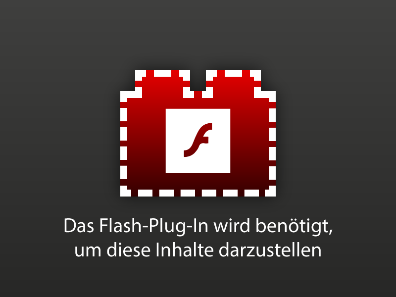 Flash-PlugIn wird benötigt