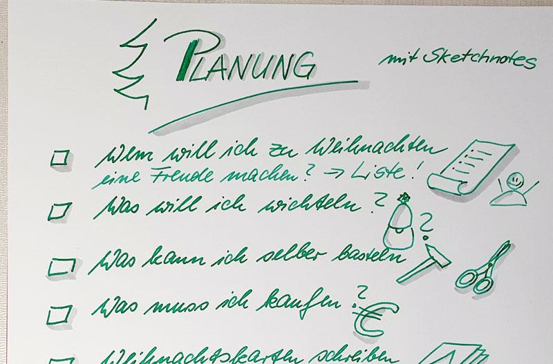 Adventsplanung mit Sketchnotes